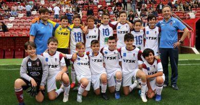 El Alevín A del TSK Roces Terceros en el Torneo de Barrios